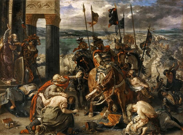 Η Άλωση της Κωνσταντινούπολης, έργο του Ευγένιου Ντελακρουά