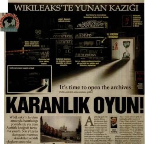 Τούρκοι εμπλέκουν Έλληνες φοιτητές με το Wikileaks!