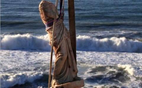 Καταιγίδα ξέθαψε Ρωμαϊκό άγαλμα