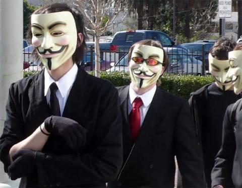 """Το κοινωνικό δίκτυο των """"Anonymous"""""""