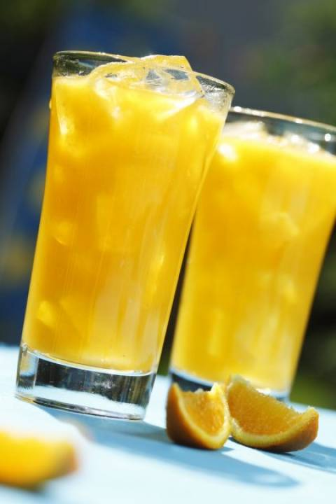 Σπιτική παγωμένη πορτοκαλάδα