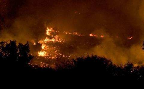 Σε εξέλιξη φωτιά στους Νεγράδες Ιωαννίνων