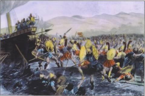 Αναπαράσταση της Μάχης του Μαραθώνα από λάτρεις του αρχαίου πολιτισμού