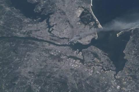 Η επίθεση της 11ης Σεπτεμβρίου, όπως την είδαν από το διάστημα!