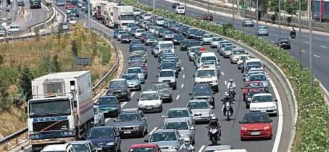 Μποτιλιάρισμα στην έξοδο της Αθηνών-Λαμίας
