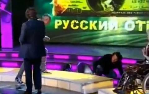 Ο Λεμπέντεφ «πυγμάχος» σε τηλεοπτικό πλατό