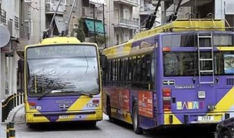 Στάση εργασίας τη Δευτέρα σε λεωφορεία και τρόλεϊ