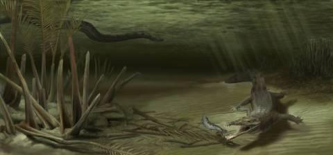 Προϊστορικός κροκόδειλος 6 μέτρων
