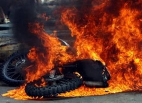 Πυρκαγιά σε μηχανή στο Ηράκλειο