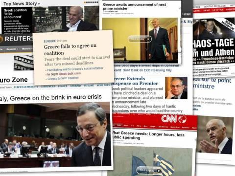 Αγωνία και στα ξένα ΜΜΕ για τη νέα κυβέρνηση