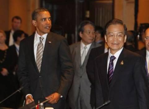 Συναντήθηκαν  Ομπάμα- Ουέν Τζιαμπάο