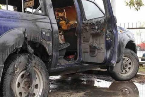 Φορτηγάκι «λαμπάδιασε» στο Αγρίνιο