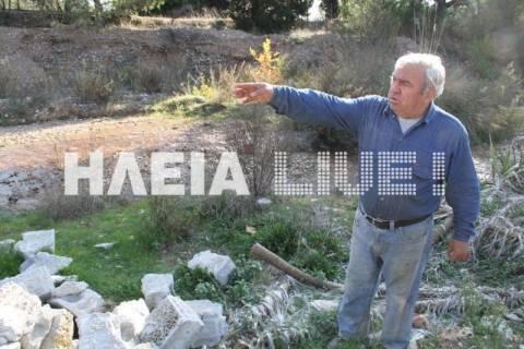 Αρχαία Ολυμπία: Απόβλητα ελαιοτριβείων σε ρέμα
