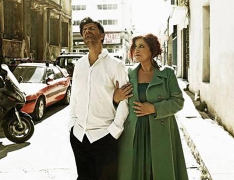 Φοίβος Δεληβοριάς και Μάρθα Φριντζήλα στο Gazarte