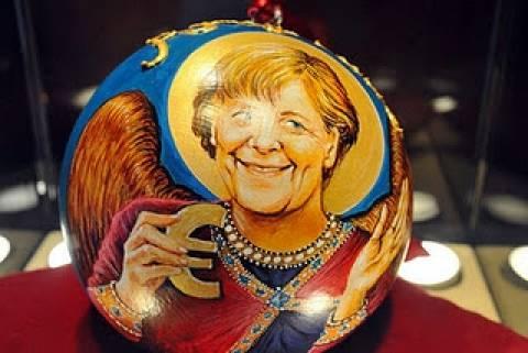 Η Μέρκελ σε χριστουγεννιάτικη μπάλα