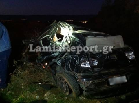Λαμία: Αυτοκίνητο έκανε τούμπες στον αέρα – Σοβαρά 25χρονος