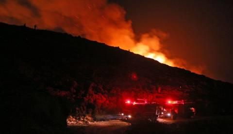 Στις φλόγες έκταση στην Άνδρο