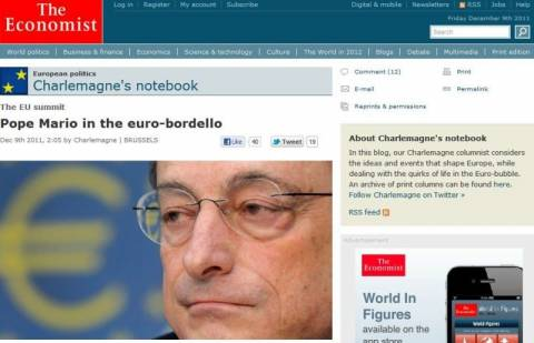 Economist: Ο «Πάπας» Μάριο στο «ευρω-πορνείο»