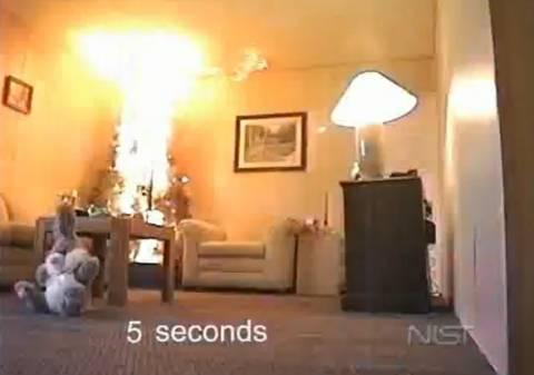 Πόσο γρήγορα καίγεται ένα χριστουγεννιάτικο δέντρο;