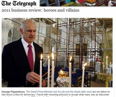 Telegraph: «Ήρωας της χρονιάς ο Παπανδρέου»