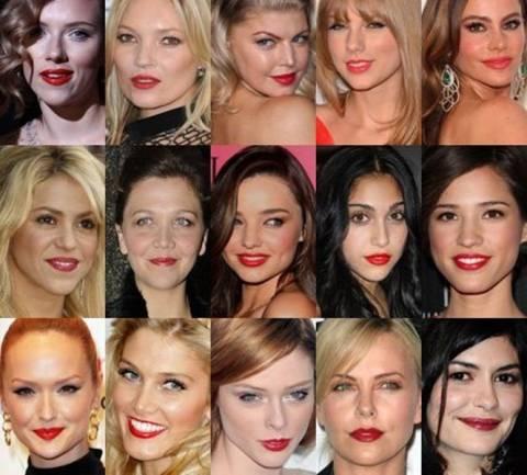 Οι celebrities λατρεύουν τα κόκκινα χείλη