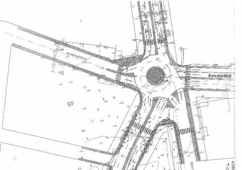 Κατασκευή Κυκλικού Κόμβου και Πεζοδρομίων στην περιοχή του Μπεντεβή