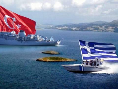 Σκηνικό έντασης στήνουν οι Τούρκοι στα Ίμια