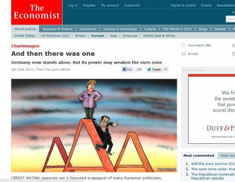 Economist: H S&P άλλαξε τις ισορροπίες στην Ευρώπη