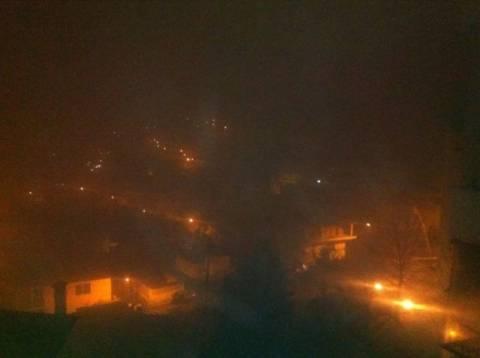 Πυκνή ομίχλη στην Λαμία, στο ένα μέτρο η ορατότητα...