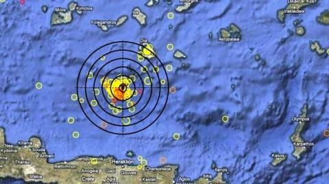 Μετασεισμός 4,6 Ρίχτερ βόρεια του Ηρακλείου Κρήτης