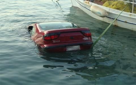Πτώση οχήματος στη θάλασσα του Μεσολογγίου