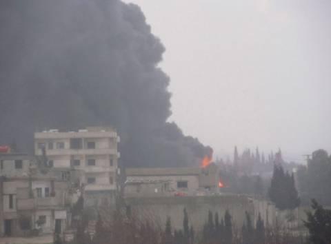 Συνεχίζονται οι βομβαρδισμοί στη Συρία
