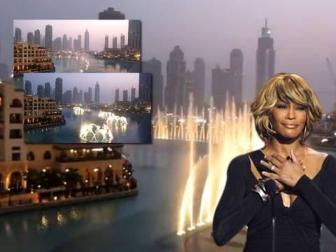 Τα σιντριβάνια «χορεύουν» για την Whitney Houston