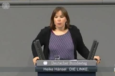 Γερμανίδα βουλευτής: «Είμαστε όλοι Έλληνες»! (βίντεο)