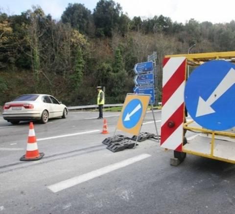 Διεκόπη η κυκλοφορία στα Μάλγαρα