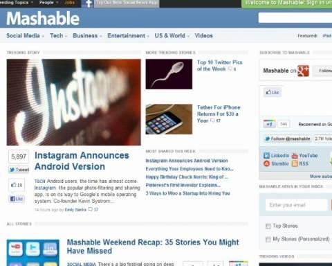 CNN: Εξαγοράζει το Mashable έναντι 200 εκ. δολαρίων;