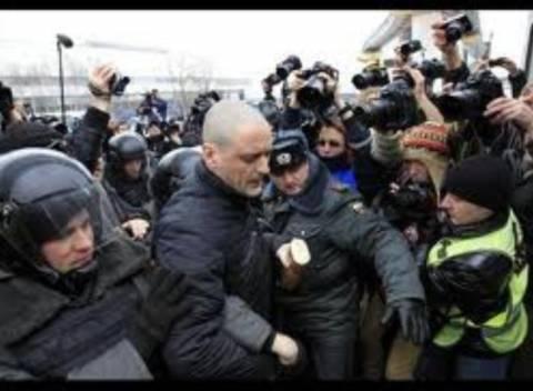 Επεισόδια έξω από το κανάλι NTV στη Μόσχα
