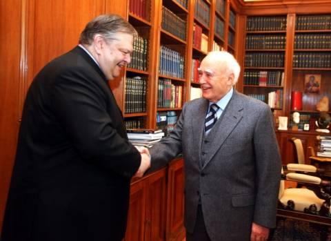 Στον πρόεδρο της Δημοκρατίας ο νέος πρόεδρος του ΠΑΣΟΚ