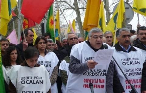 Διαδήλωση χιλιάδων Κούρδων στο Στρασβούργο