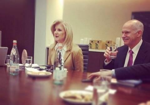 Ο Παπανδρέου στα γραφεία της Huffington Post