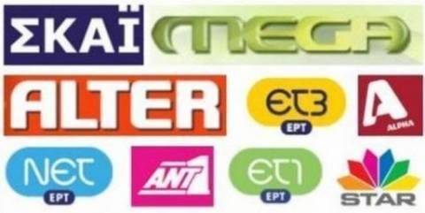 Οι εβδομαδιαίες τηλεθεάσεις των τηλεοπτικών καναλιών