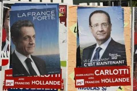 Γαλλικές εκλογές: Πώς μοιράζονται οι ψήφοι σε Σαρκοζί-Ολάντ