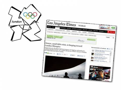 LA Times: Η Ελλάδα πάει «κουτσαίνοντας» στους Ολυμπιακούς