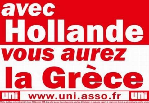 Αφίσα γαλλικής ακροδεξιάς: «Με τον Ολάντ, θα γίνετε Ελλάδα»