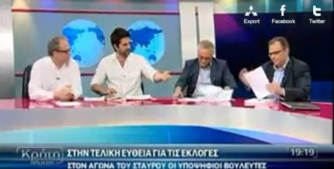 Απίστευτος καυγάς σε προεκλογική εκπομπή στην Κρήτη