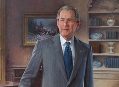 Αποκαλυπτήρια για το πορτρέτο του Τζορτζ Μπους στο Λευκό Οίκο