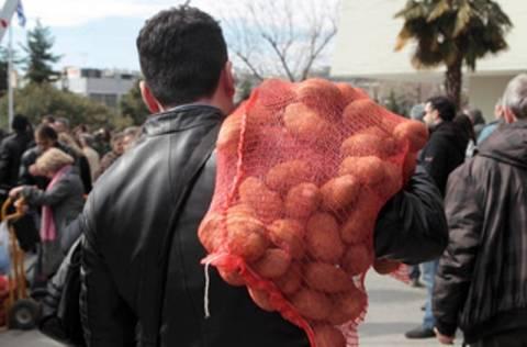 Διατέθηκαν 15 τόνοι φθηνής πατάτας στα Χανιά
