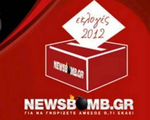 Εκλογές 2012: Τα πρώτα αποτελέσματα από το Newsbomb.gr