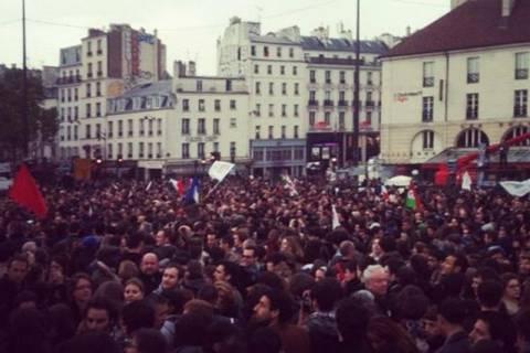 Γαλλικές εκλογές: Πανηγύρια στην πλατεία Βαστίλης