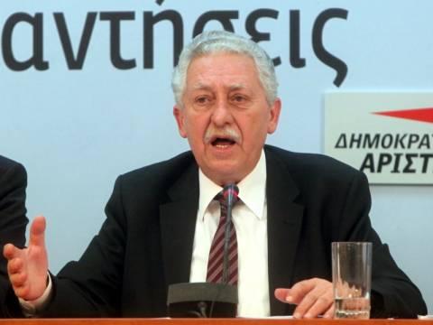 Απέκλεισε συμμετοχή σε συγκυβέρνηση ΝΔ-ΠΑΣΟΚ ο Φ. Κουβέλης